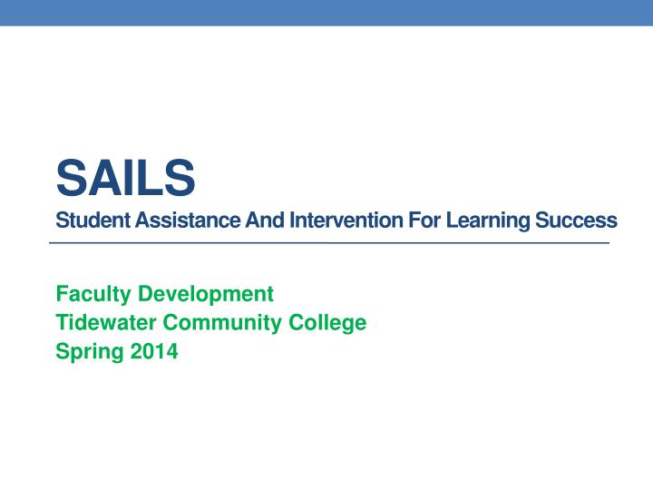 sails student assistance and intervention for learning success n.