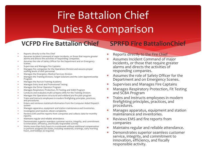 Fire Battalion Chief