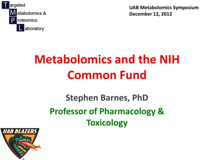 metabolomics and the nih common fund n.