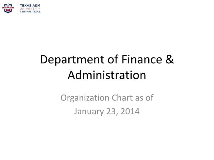 department of finance administration n.