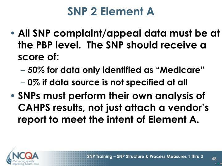 SNP 2 Element A