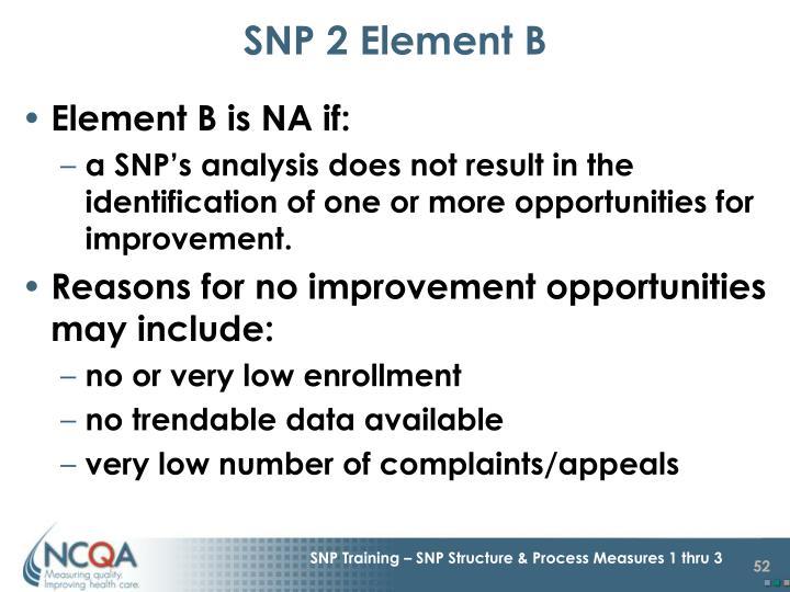 SNP 2 Element B
