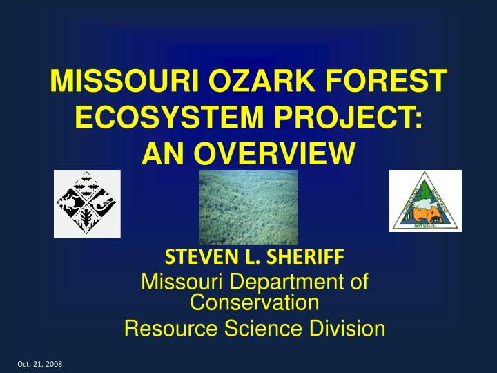 missouri ozark forest ecosystem project an overview n.