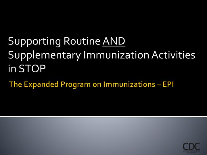 the expanded program on immunization is