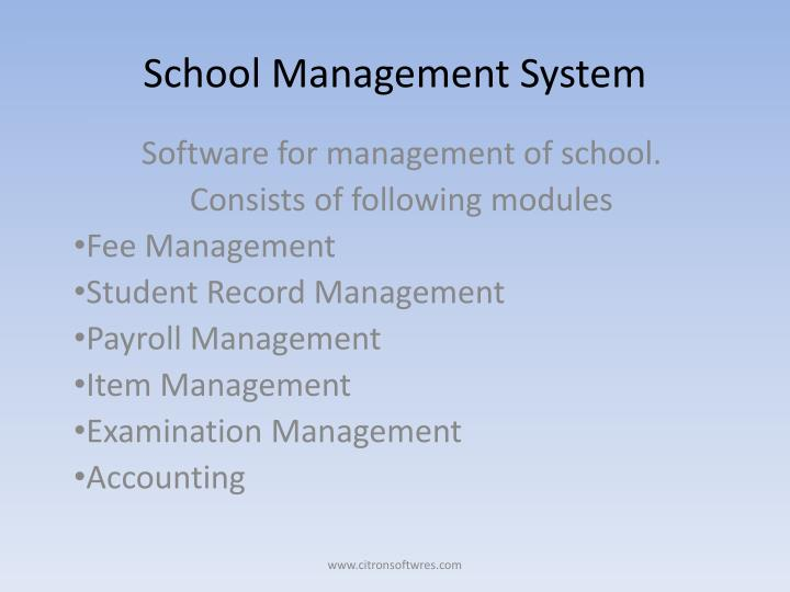 school management system n.