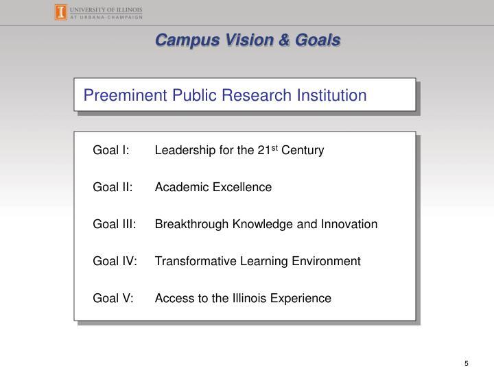 Campus Vision & Goals