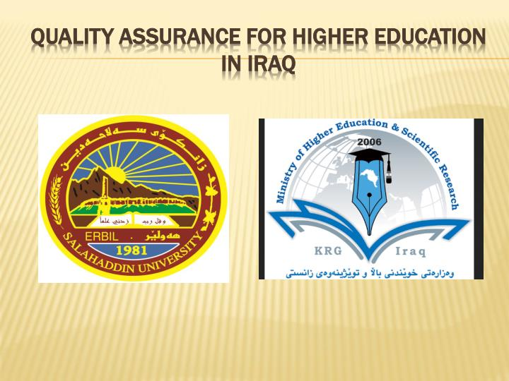 quality assurance for higher education in iraq n.
