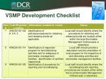 vsmp development checklist2