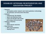 disabled veterans reintegration and education project1