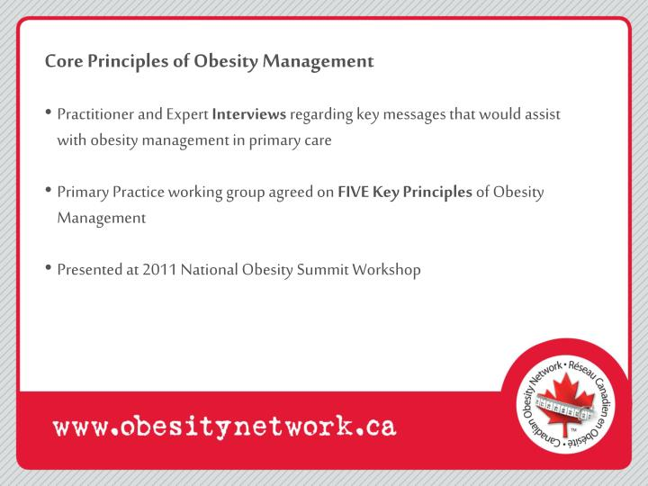 Core Principles of Obesity Management
