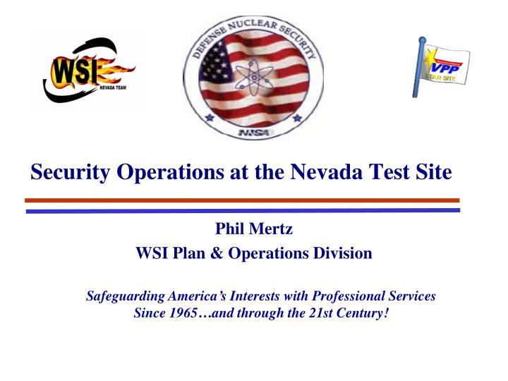 security operations at the nevada test site n.