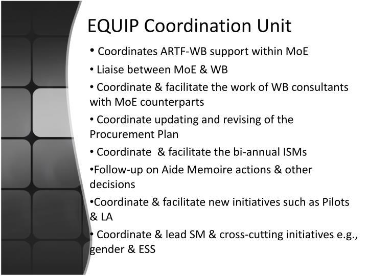 Equip coordination unit