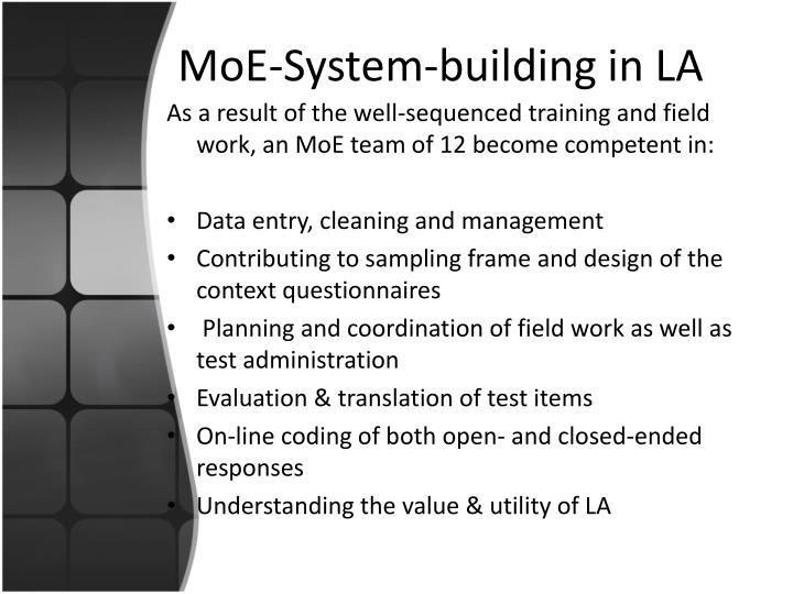 MoE-System-building in LA
