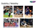 stability mobility