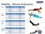 stability muscle endurance