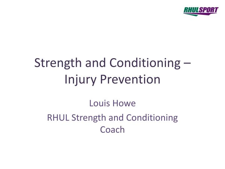 strength and conditioning injury prevention n.