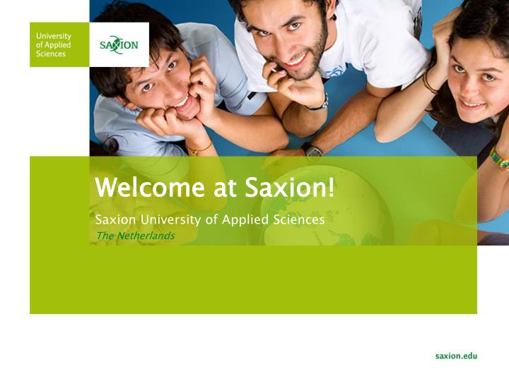 Welcome at saxion