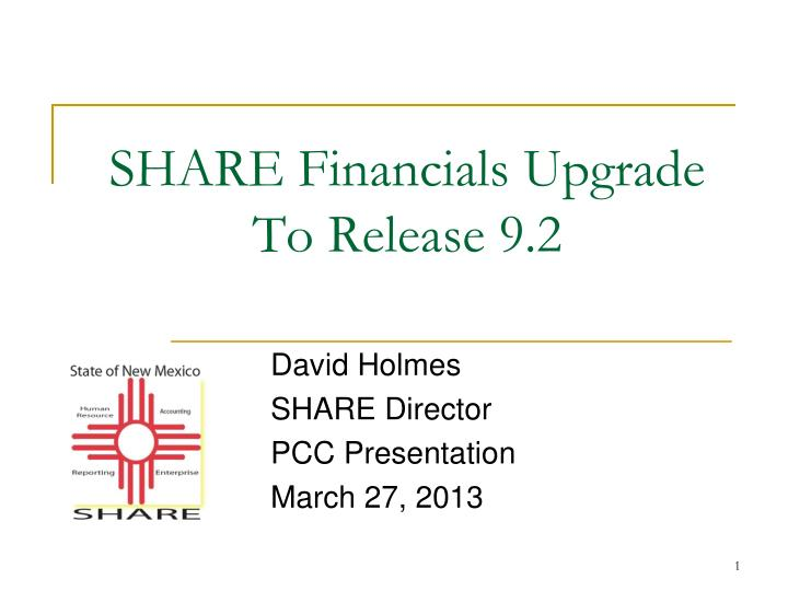 share financials upgrade to release 9 2 n.