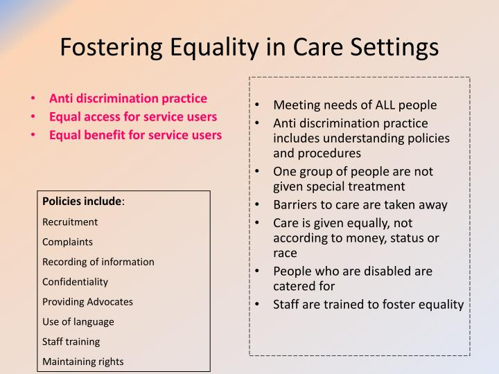 Ppt Understand The Concepts Of Equality Diversity And