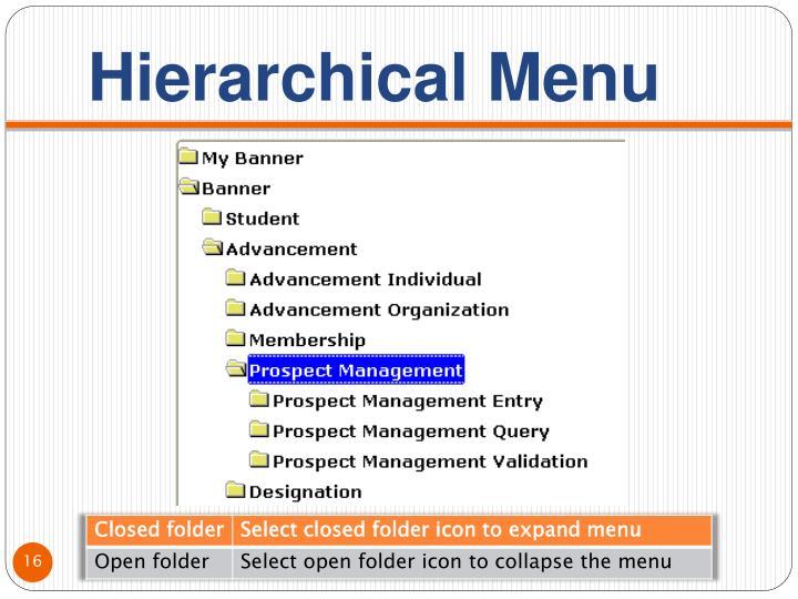 Hierarchical Menu