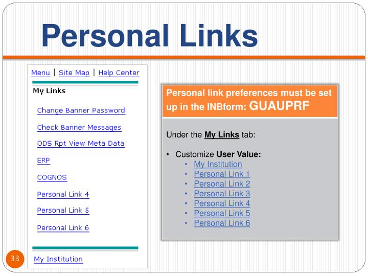 Personal Links
