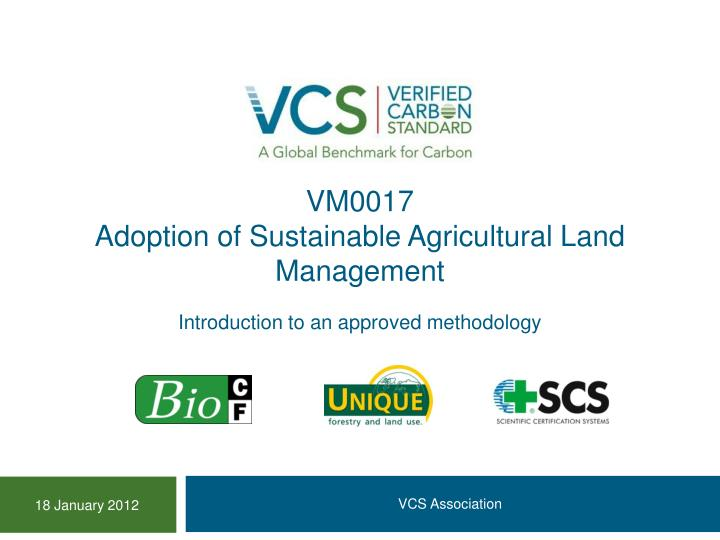 vm0017 adoption of sustainable agricultural land management n.