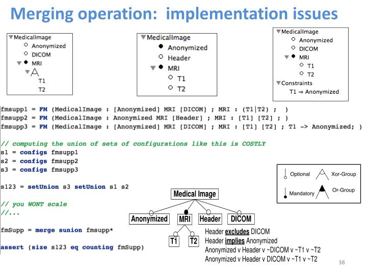 Merging operation:  implementation issues