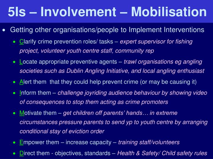 crime prevention role Prevention works a blog by the national crime prevention council home archives (pdf), present data on the impact of education on crime and crime prevention.