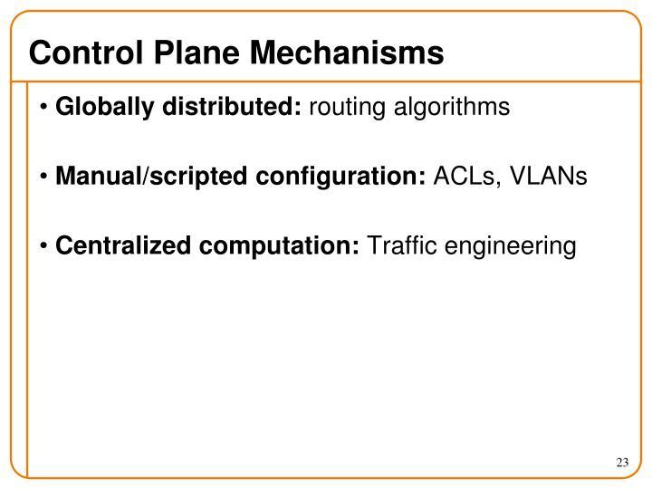 Control Plane Mechanisms