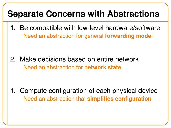 Separate Concerns with Abstractions