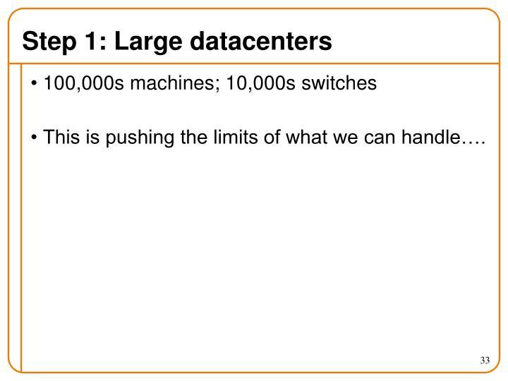 Step 1: Large datacenters