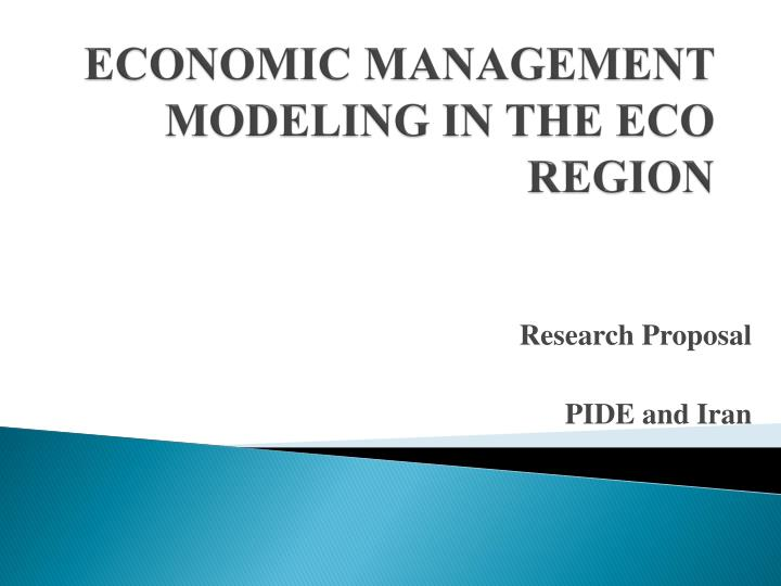 economic management modeling in the eco region n.