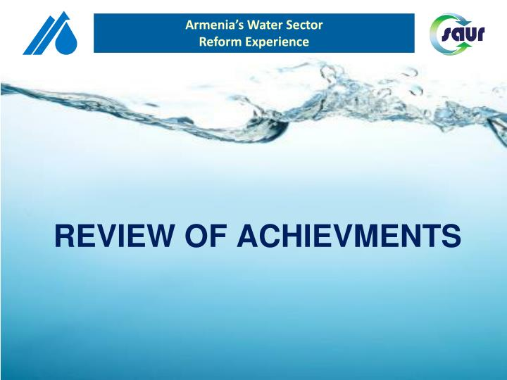 Armenia's Water Sector