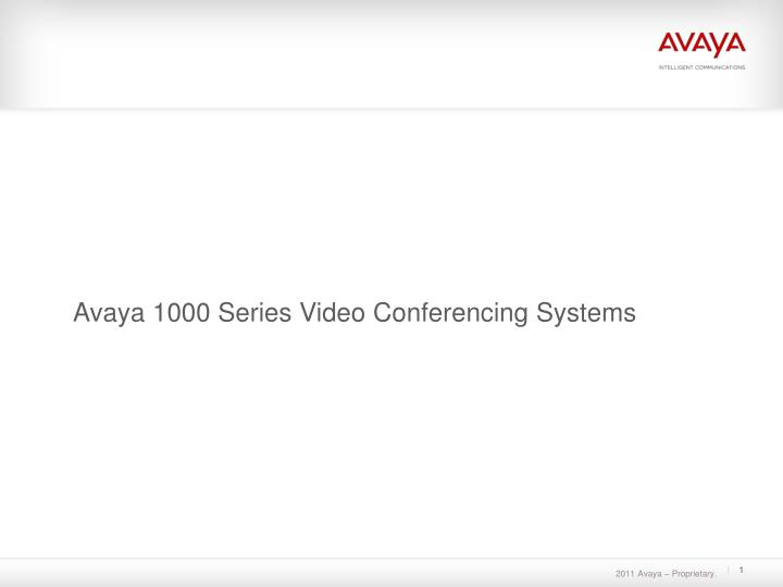 avaya 1000 series video conferencing systems n.