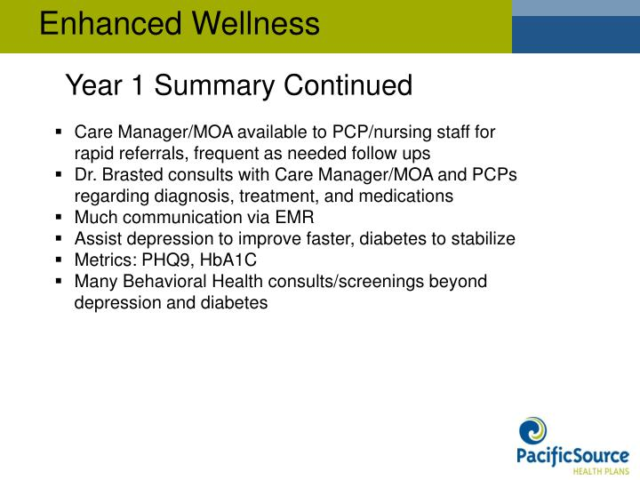 Enhanced Wellness