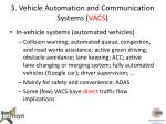 3 vehicle automation and communication systems vacs