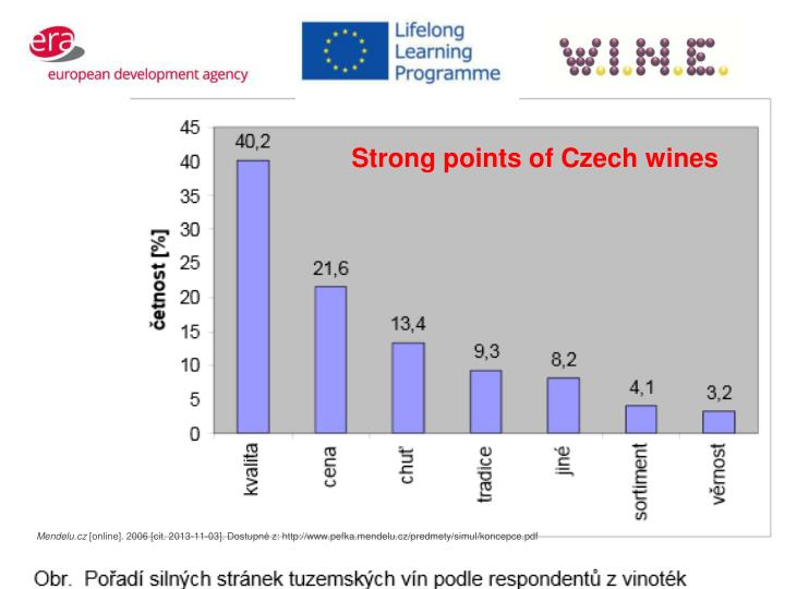 Strong points of Czech wines