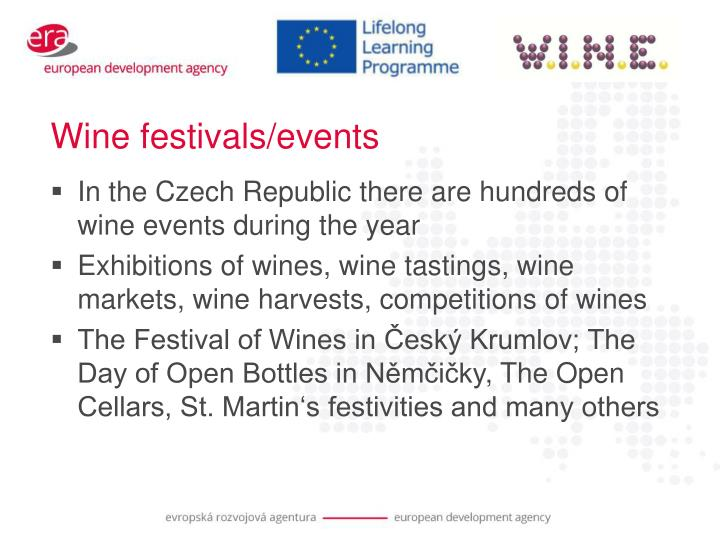 Wine festivals/events