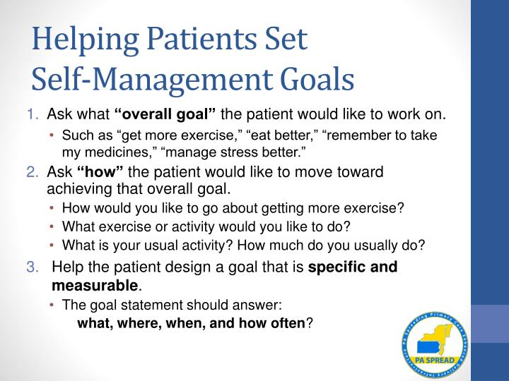 patient self management What is epilepsy self-management self-management in epilepsy can be thought of as both a process and set of behaviors most commonly, self-management has been.