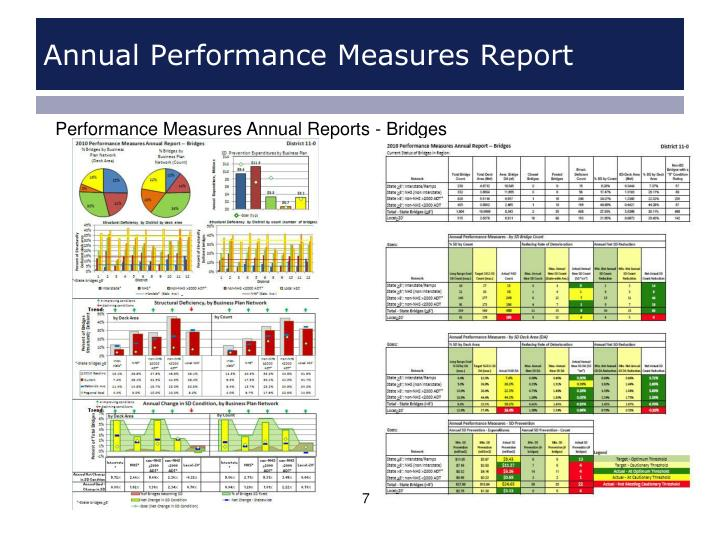 Annual Performance Measures Report