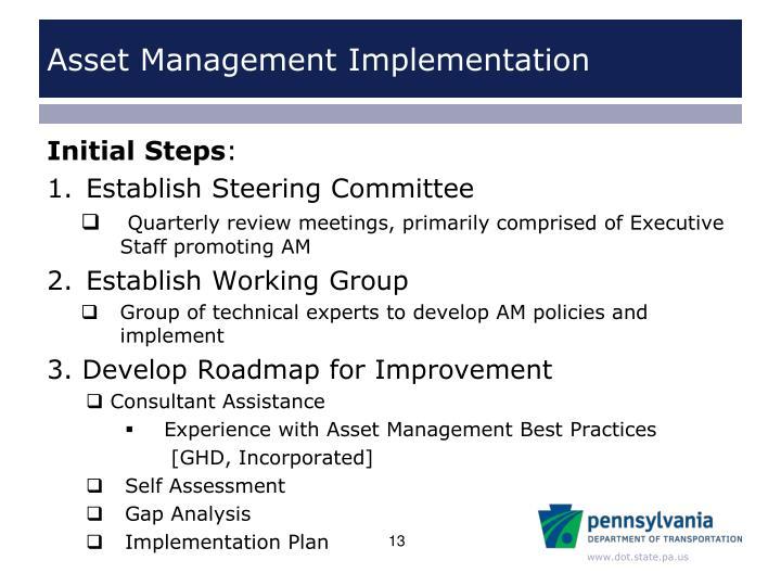Asset Management Implementation