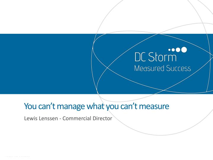 you can t manage what you can t measure n.