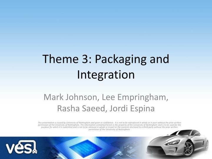 theme 3 packaging and integration n.