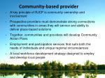 community based provider