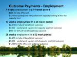 outcome payments employment