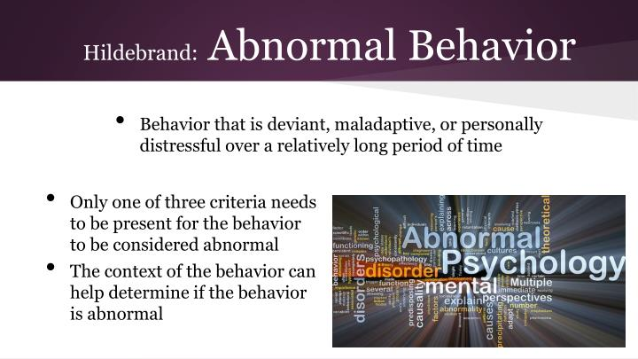 abnormal psychology behaviour that is