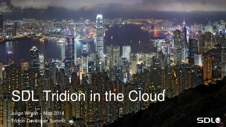 sdl tridion in the cloud n.