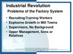 industrial revolution problems of the factory system