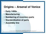 origins arsenal of venice