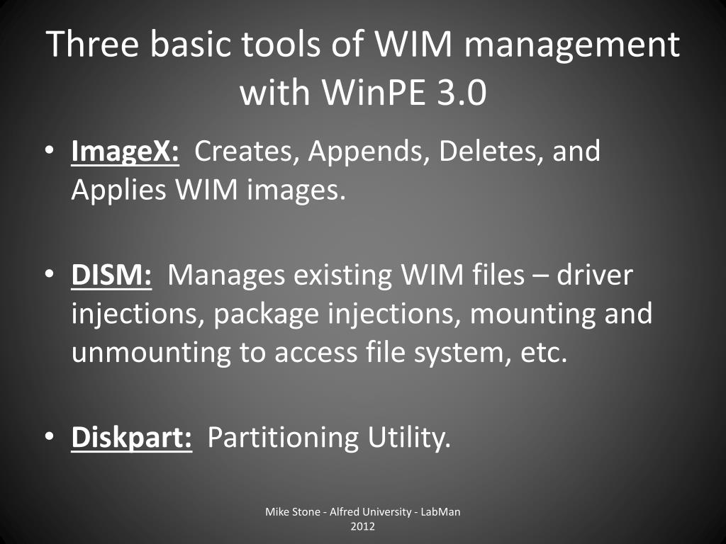 PPT - Migrating from Ghost to WIM PowerPoint Presentation - ID:1567021